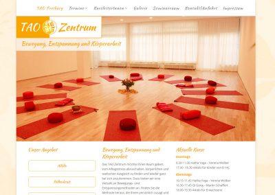 Webseite TAO-Zentrum Freiburg