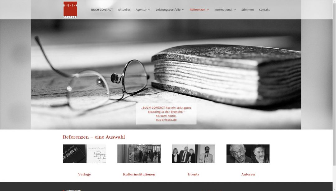 Webseite BUCH CONTACT