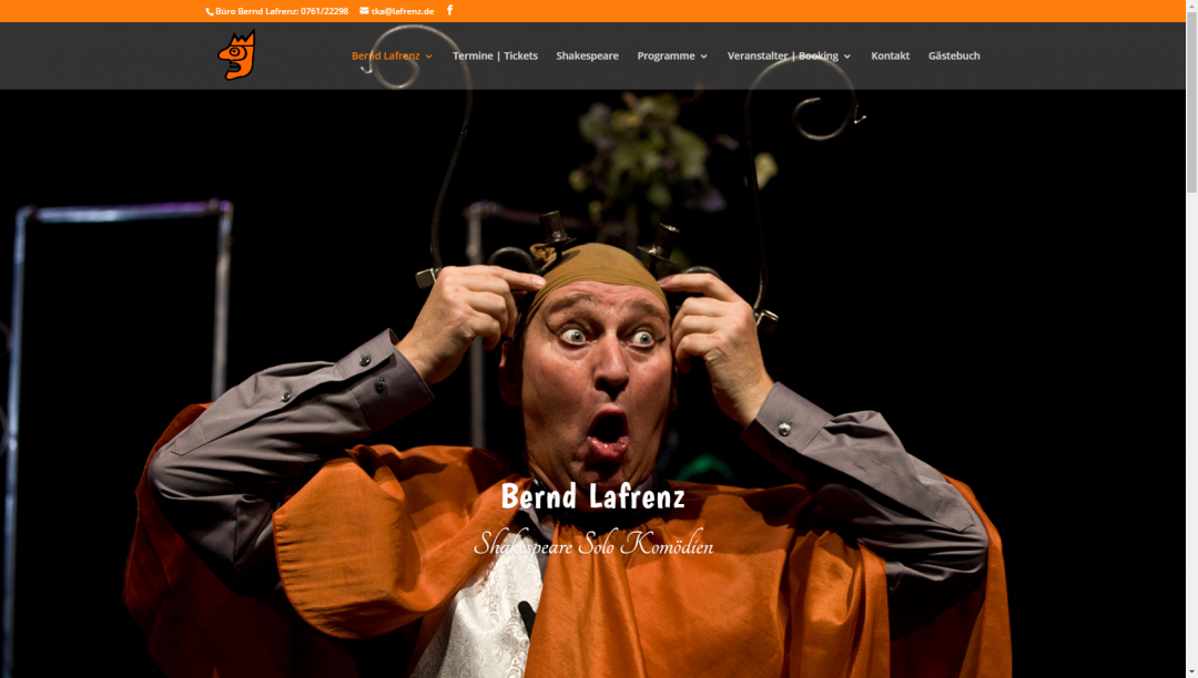 Webseite Bernd Lafrenz, Schauspieler