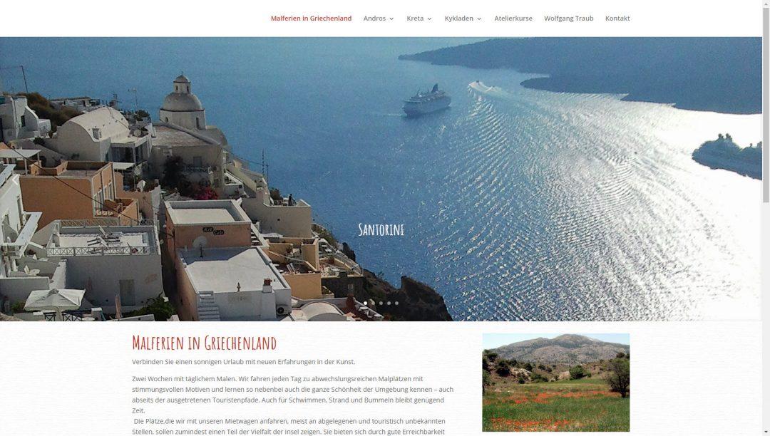 Webseite Malferien in Griechenland