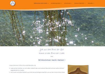 Webseite INEH – Mit Liebe Heilen